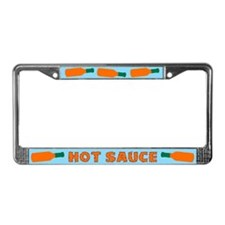 Hot Sauce Bottles License Plate Frame