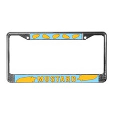 Bottles of Mustard License Plate Frame