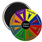 Colored Hex Liberal Values Magnet
