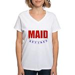 Retired Maid Women's V-Neck T-Shirt