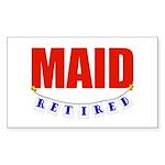 Retired Maid Rectangle Sticker