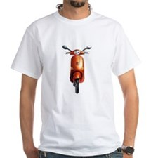 white scooter t-shirt