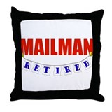 Retired Mailman Throw Pillow
