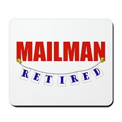 Retired Mailman Mousepad