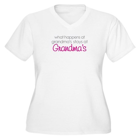 what happens at grandma's Women's Plus Size V-Neck