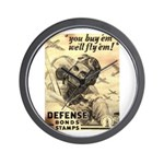 Savings Bonds & Stamps Wall Clock