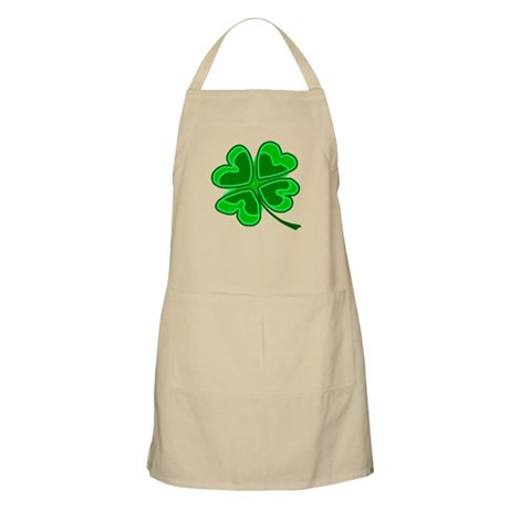Lucky Four Leaf Clover BBQ Apron