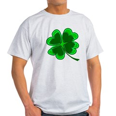 Lucky Four Leaf Clover Light T-Shirt