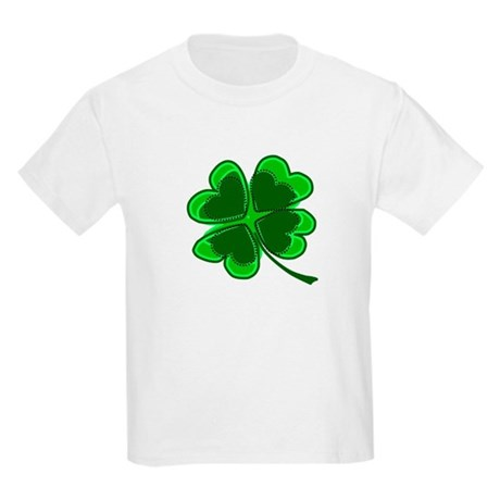Lucky Four Leaf Clover Kids Light T-Shirt