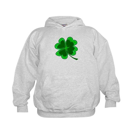 Lucky Four Leaf Clover Kids Hoodie