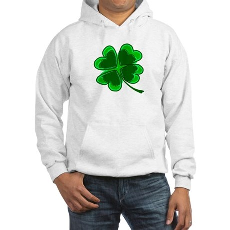 Lucky Four Leaf Clover Hooded Sweatshirt