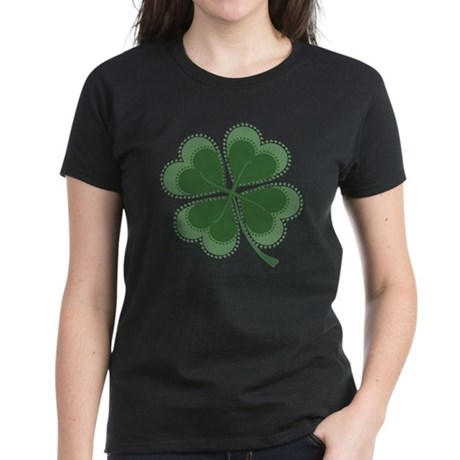 Lucky Four Leaf Clover Women's Dark T-Shirt
