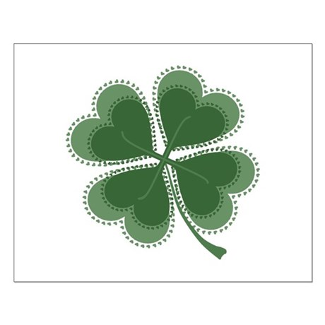 Lucky Four Leaf Clover Small Poster