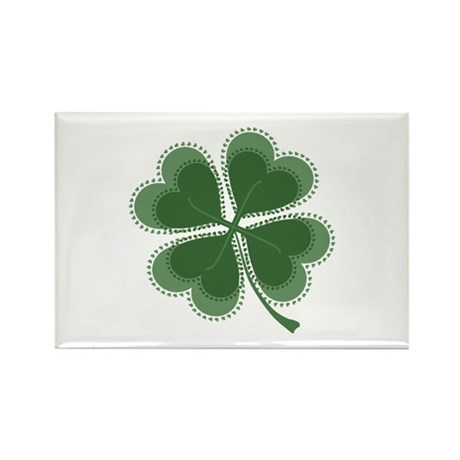 Lucky Four Leaf Clover Rectangle Magnet