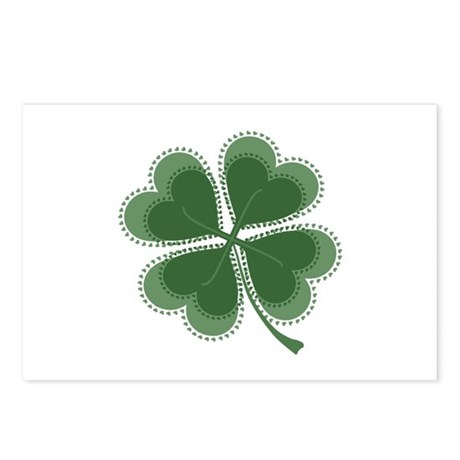 Lucky Four Leaf Clover Postcards (Package of 8)