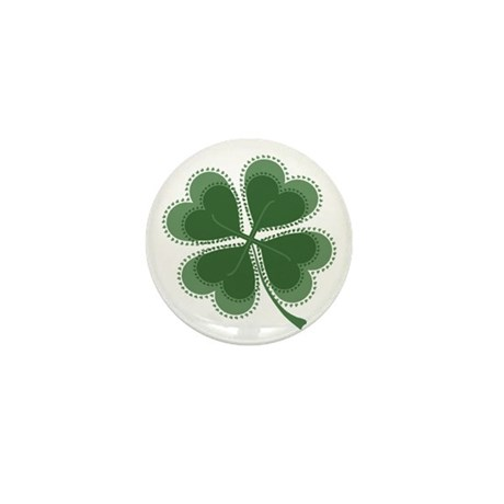Lucky Four Leaf Clover Mini Button (100 pack)