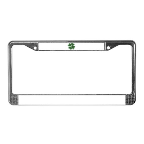 Lucky Four Leaf Clover License Plate Frame
