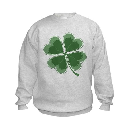 Lucky Four Leaf Clover Kids Sweatshirt