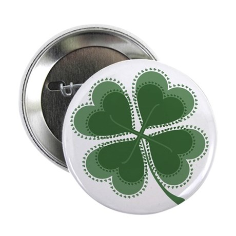 "Lucky Four Leaf Clover 2.25"" Button (10 pack)"