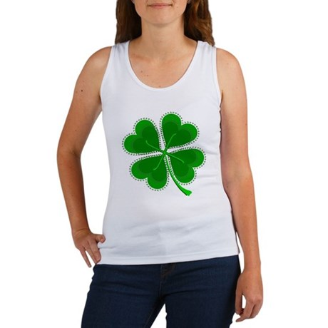 Lucky Four Leaf Clover Women's Tank Top
