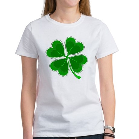 Lucky Four Leaf Clover Women's T-Shirt