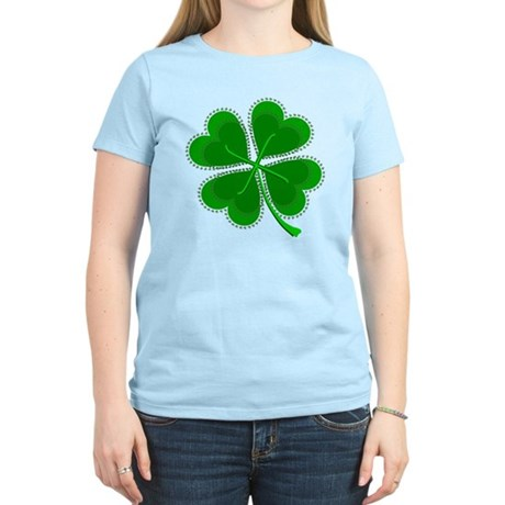 Lucky Four Leaf Clover Women's Light T-Shirt
