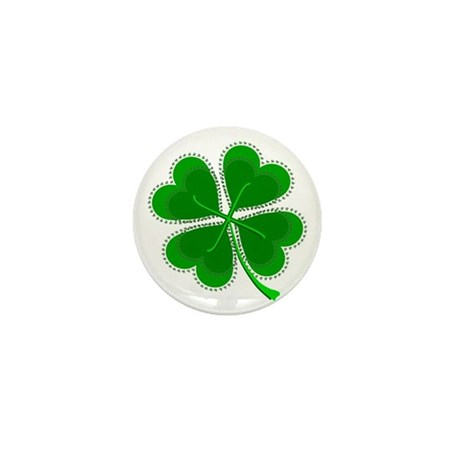 Lucky Four Leaf Clover Mini Button (10 pack)