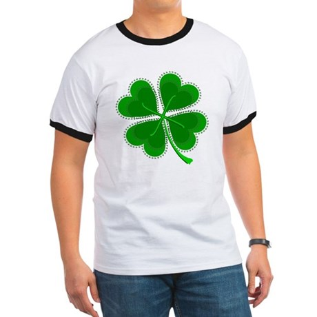 Lucky Four Leaf Clover Ringer T