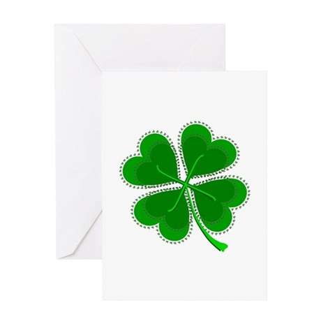 Lucky Four Leaf Clover Greeting Card