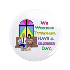 "Worship Together C 3.5"" Button"