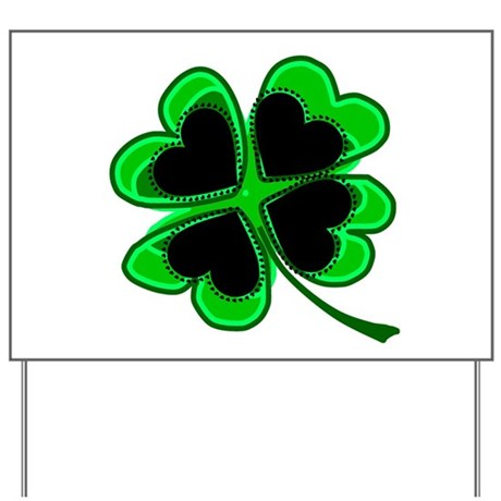 Lucky Four Leaf Clover Yard Sign