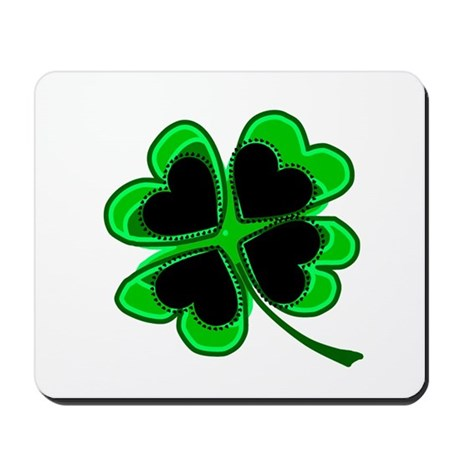 Lucky Four Leaf Clover Mousepad