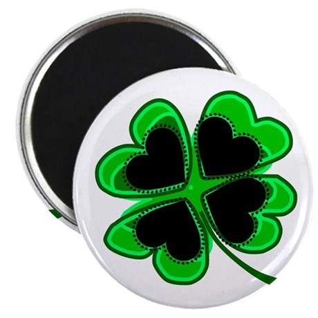 "Lucky Four Leaf Clover 2.25"" Magnet (100 pack)"