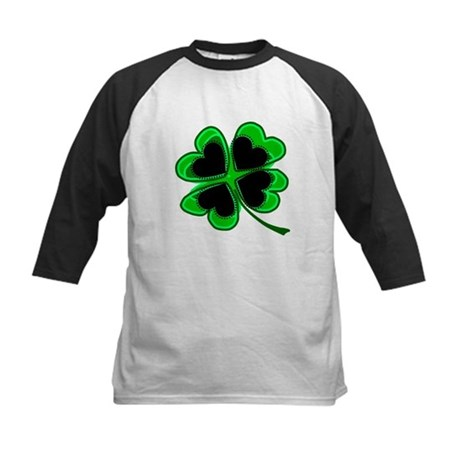 Lucky Four Leaf Clover Kids Baseball Jersey