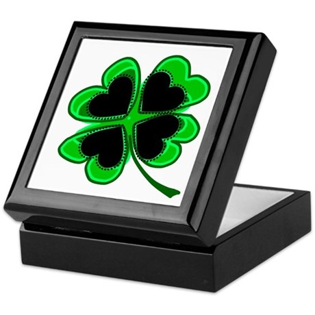 Lucky Four Leaf Clover Keepsake Box