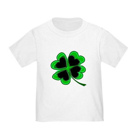 Lucky Four Leaf Clover Toddler T-Shirt