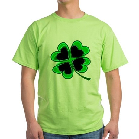 Lucky Four Leaf Clover Green T-Shirt
