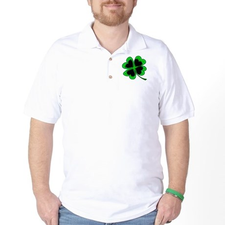 Lucky Four Leaf Clover Golf Shirt