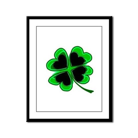 Lucky Four Leaf Clover Framed Panel Print