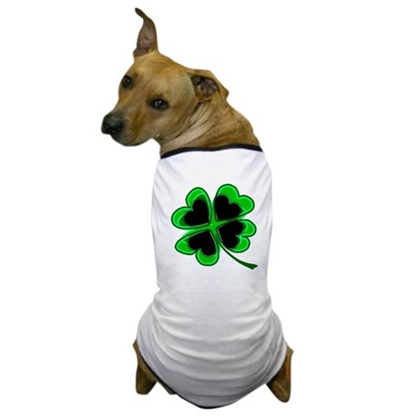 Lucky Four Leaf Clover Dog T-Shirt