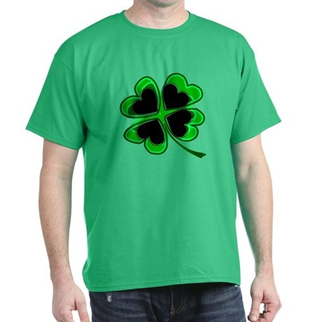 Lucky Four Leaf Clover Dark T-Shirt