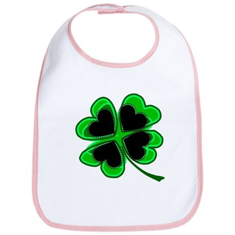 Lucky Four Leaf Clover Bib