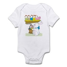 Rainbow Easter Chickens Infant Bodysuit