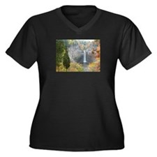 Taughannock Falls Women's Plus Size V-Neck Dark T-