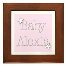 Cute Alexia Framed Tile