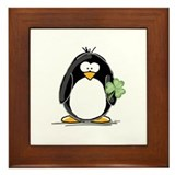 Shamrock Penguin Framed Tile