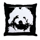 Ozzy the Maltese Throw Pillow