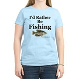 """Rather Be Fishing"" Womens Crappie Tee"