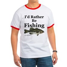 """I'd Rather Be Fishing"" Bass Tee"