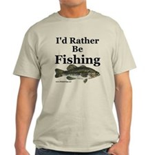"""I'd Rather Be Fishing"" Bass T-Shirt"